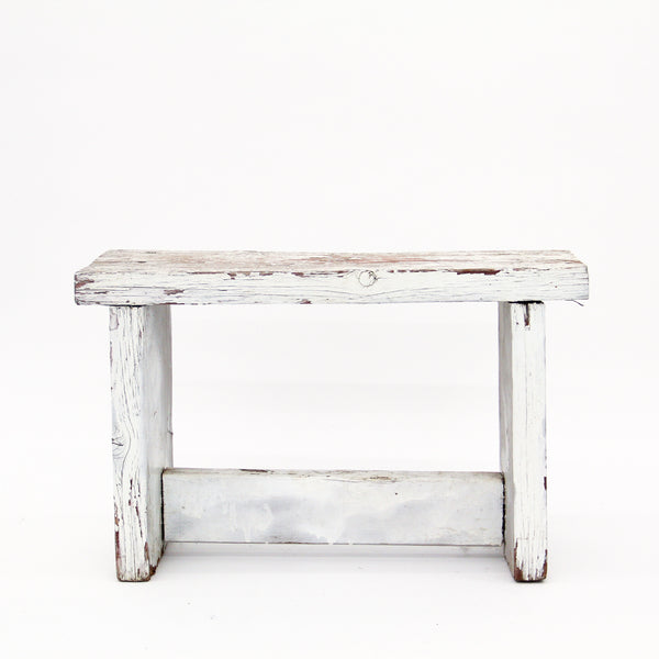 Antique White Bench