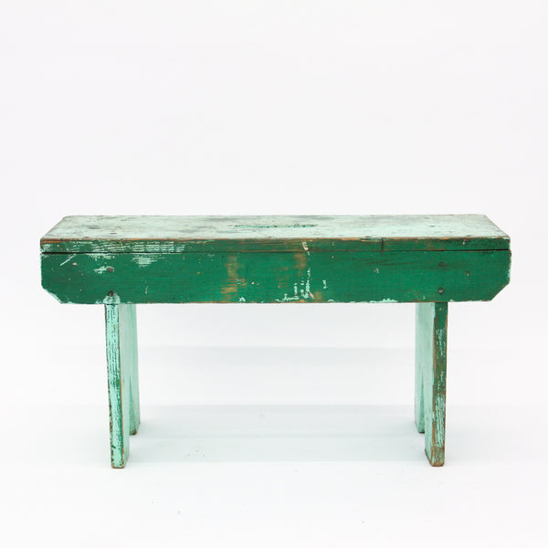 Antique Green Bench
