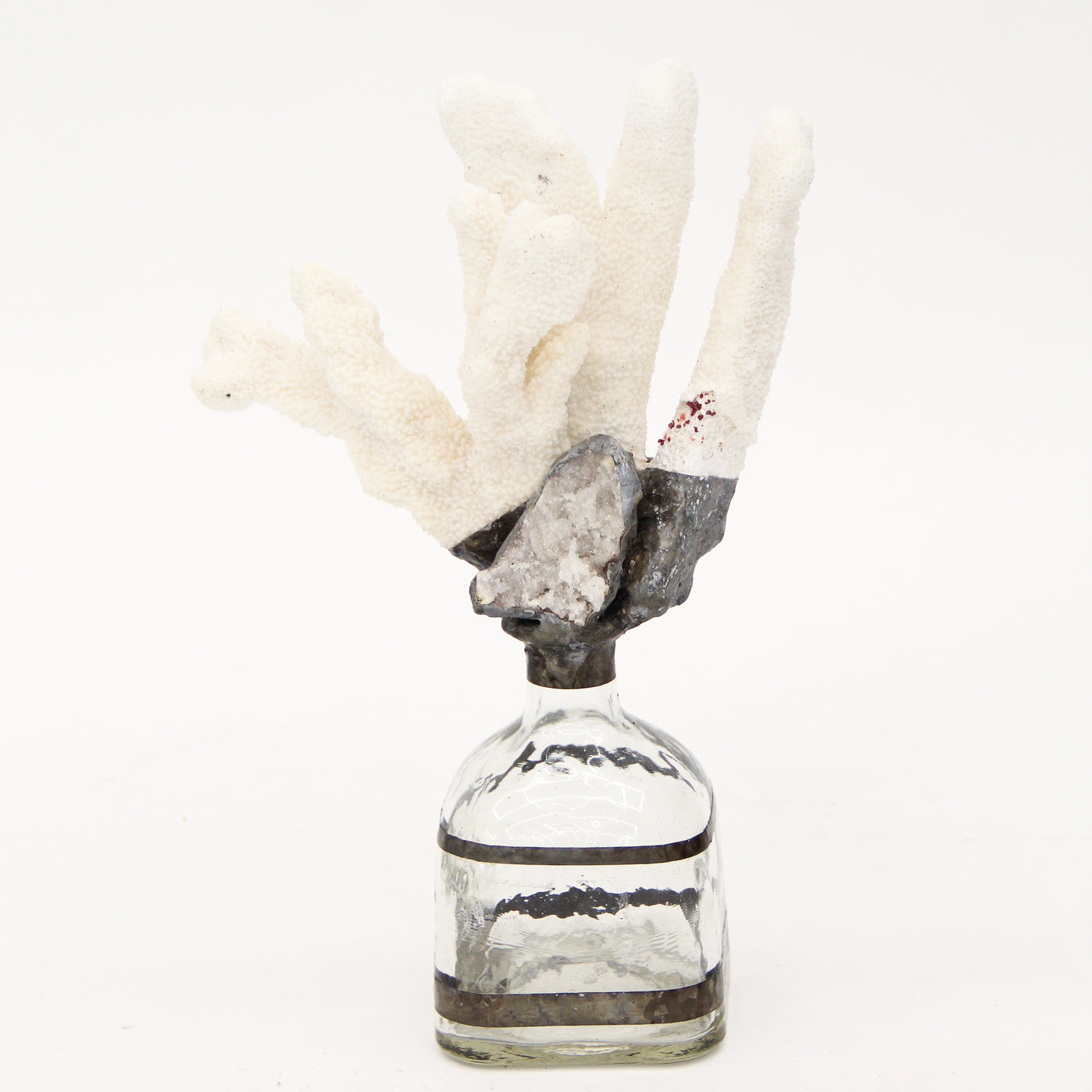 White Coral Geode Bottle