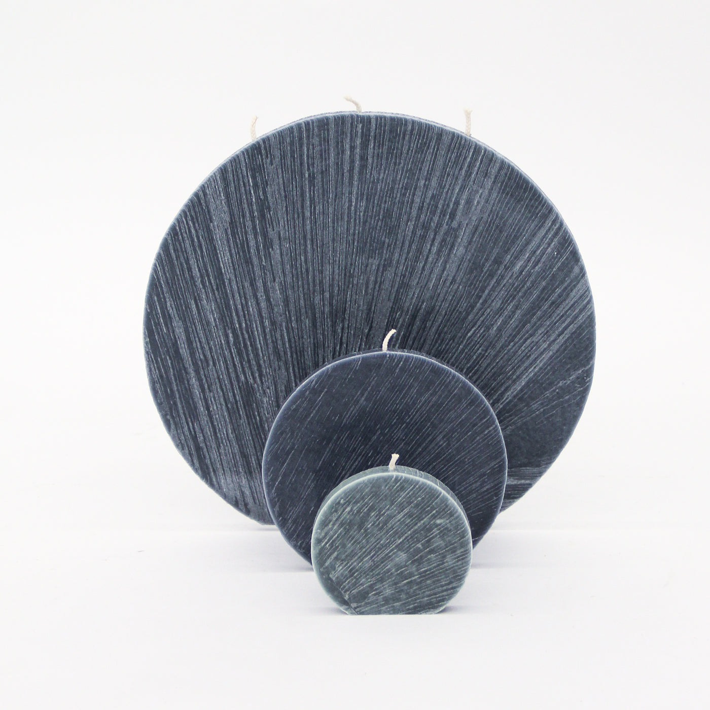 Dark Grey Circle Candle