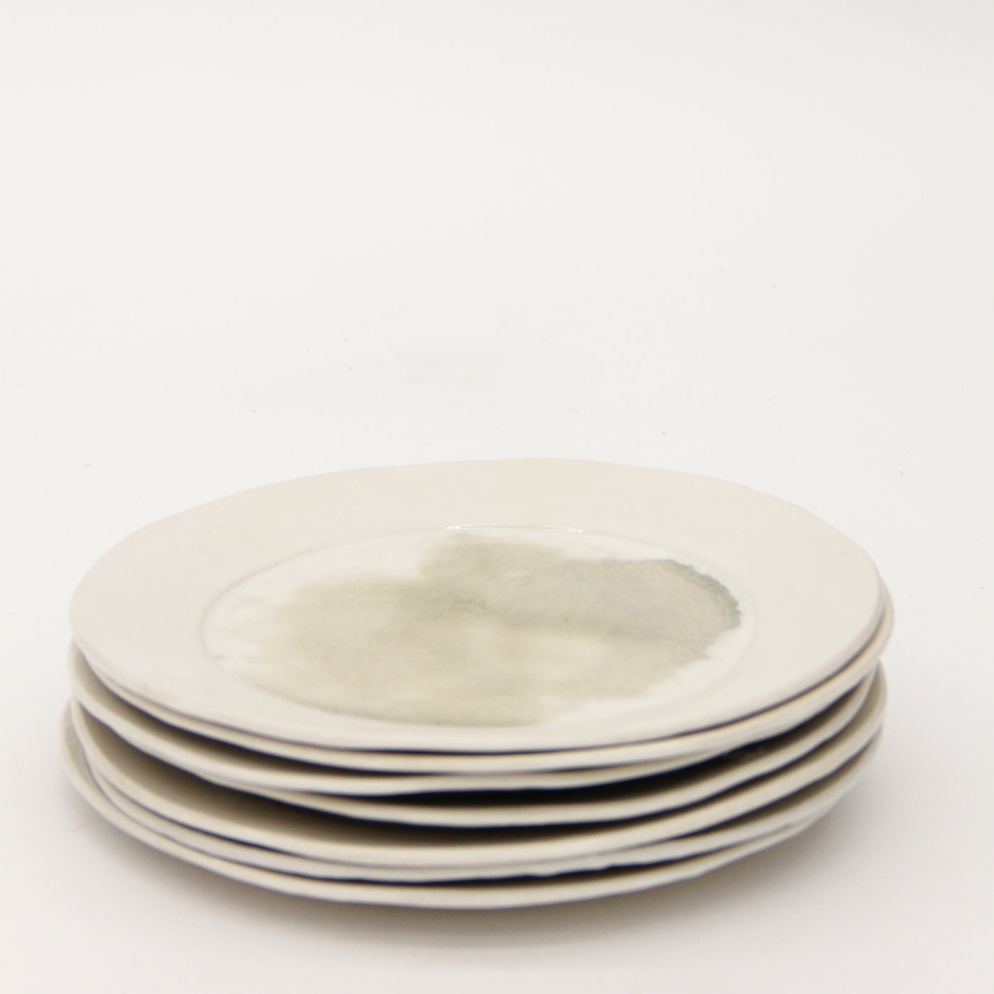 White Crushed Glass Plate