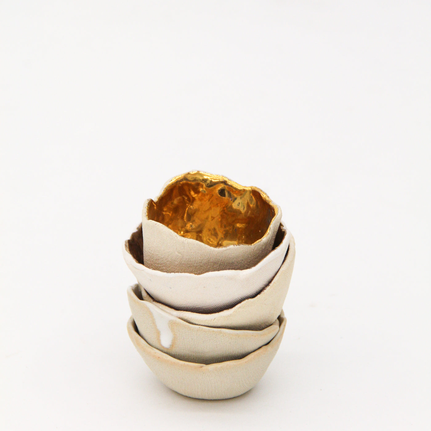 14k Gold Pinch Pot