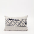 Patterned Linen Lumbar Pillow