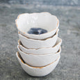 Porcelain + Crushed Glass Pinch Pot