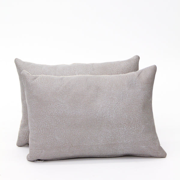 Stingray Leather Lumbar Pillow