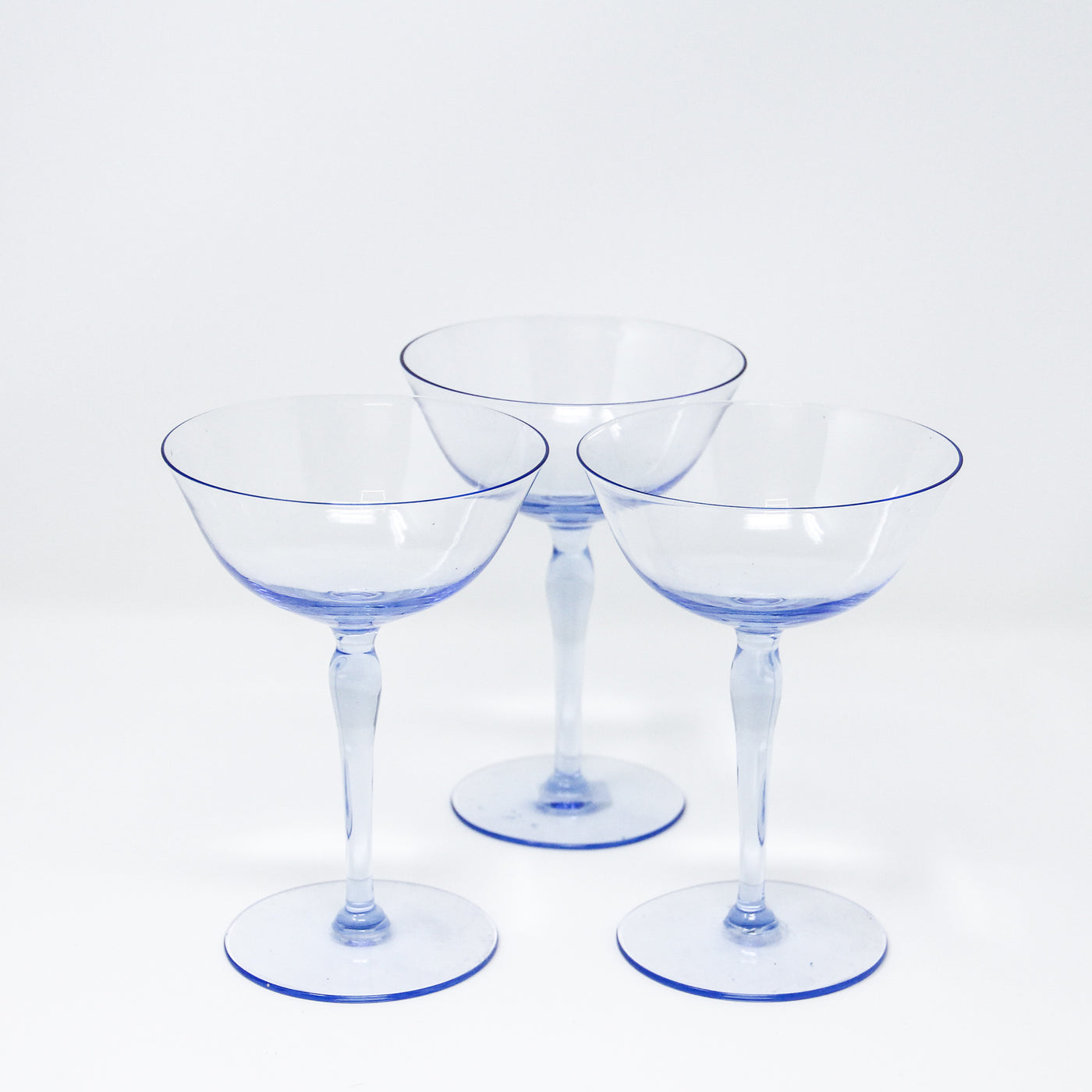 Blue Vintage Cocktail Glass