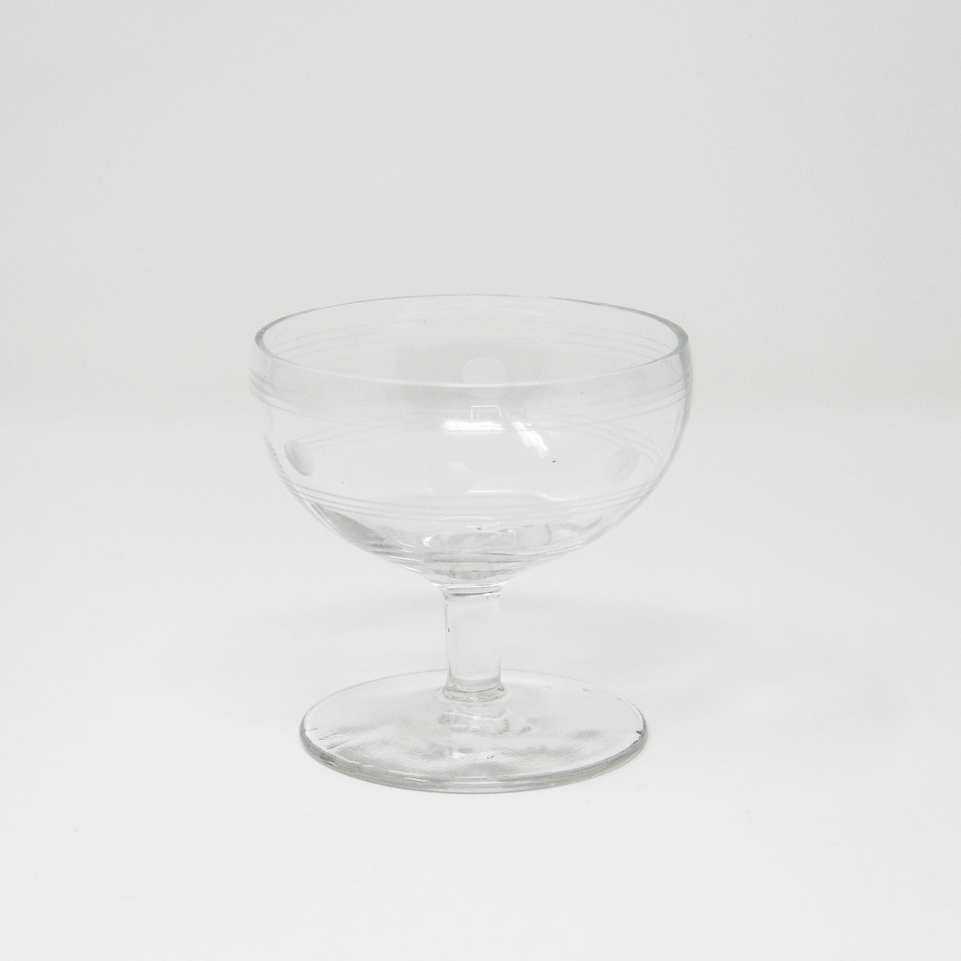 Vintage Polka Dot Coupe Glasses