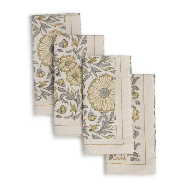 Yellow Zinna Napkin Set