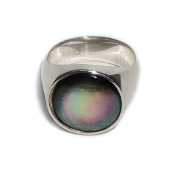 Black Mother of Pearl Everett Ring
