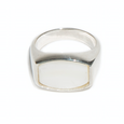 White Mother of Pearl Archie Ring