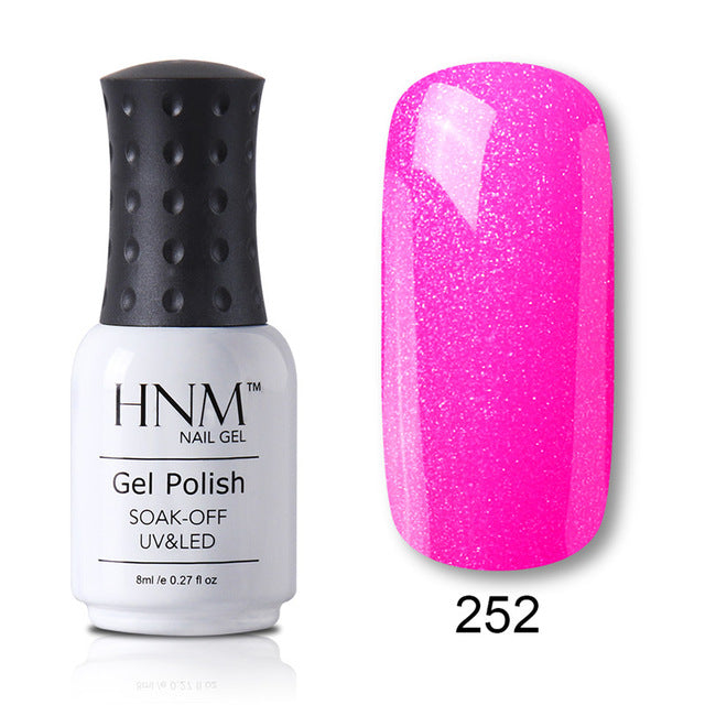 HNM 8ML Color UV Gel Nail Polish 28 Color LED Lamp Paint GelLak Soak Off Gelpolish Semi Permanent Hybrid Varnish Lucky Lacquer