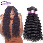 CRANBERRY Hair Peruvian Deep Wave Bundles Human Hair Extensions
