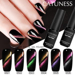 CATUNESS Hot Selling Product 2018 5D Cat's Eye Nail Gel Magnet for Varnish UV Nail Polish Lucky Color Soak Off Gel Polish 7ml