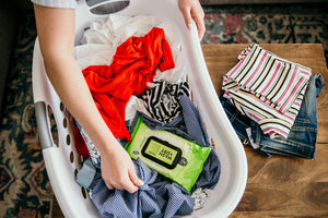 All-in-one washer and dryer sheet
