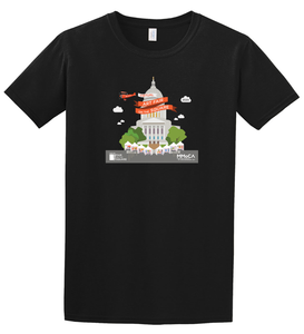 Art Fair 2020, Adult Black Unisex Crew Tee