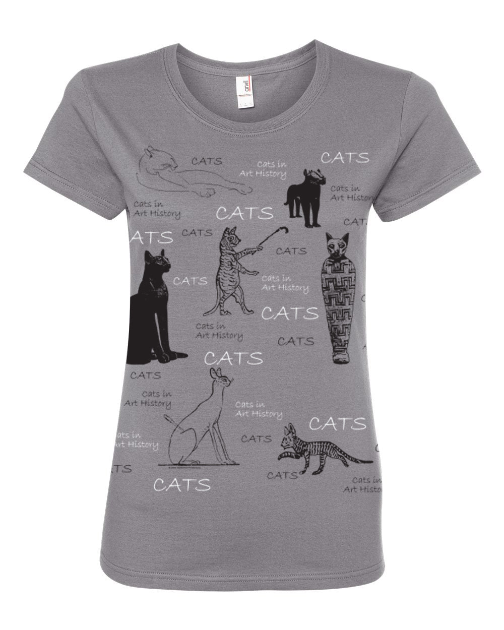 Cats In Art History Women's' Crew Tee