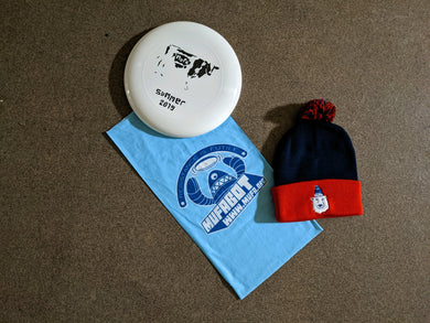 MUFA, Grab bag $25.00 (3 items-buff, beanie, disc).