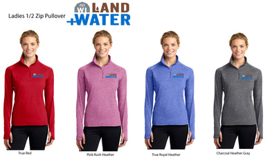 Adult Ladies'  1/2-Zip Long Sleeve Pullover (embroidered)