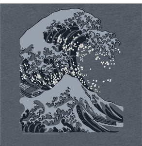 Hokusai Big Wave Adapted Japanese Woodblock Print