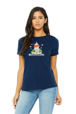 Art Fair 2020, Women's Navy Crew Tee