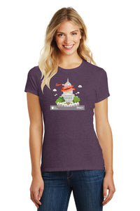 Art Fair 2020, Women's Heather Eggplant Crew Tee