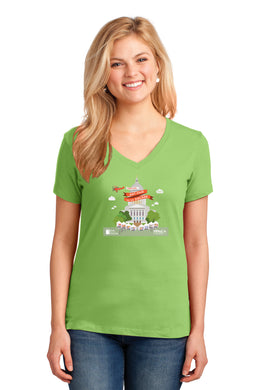 Art Fair 2020, Women's Lime V-neck Tee