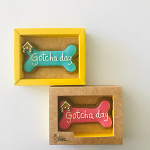 Golden Barkery Dog Biscuits - Happy Gotcha Day Dog Bone Treat