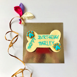 Dog Birthday Cake - Dog Bone