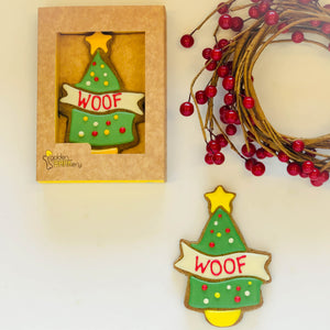 Golden Barkery Christmas Dog Treats - Christmas Dog Biscuits Gifts Woof Tree Gifts