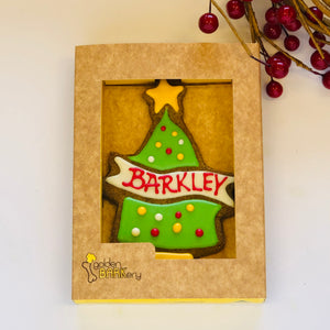 Golden Barkery Christmas Dog Treats - Personalised Xmas Tree
