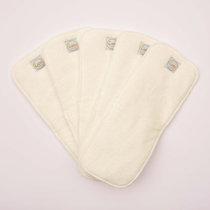 Reusable Bamboo Terry Nappy Inserts (Pack of 5)