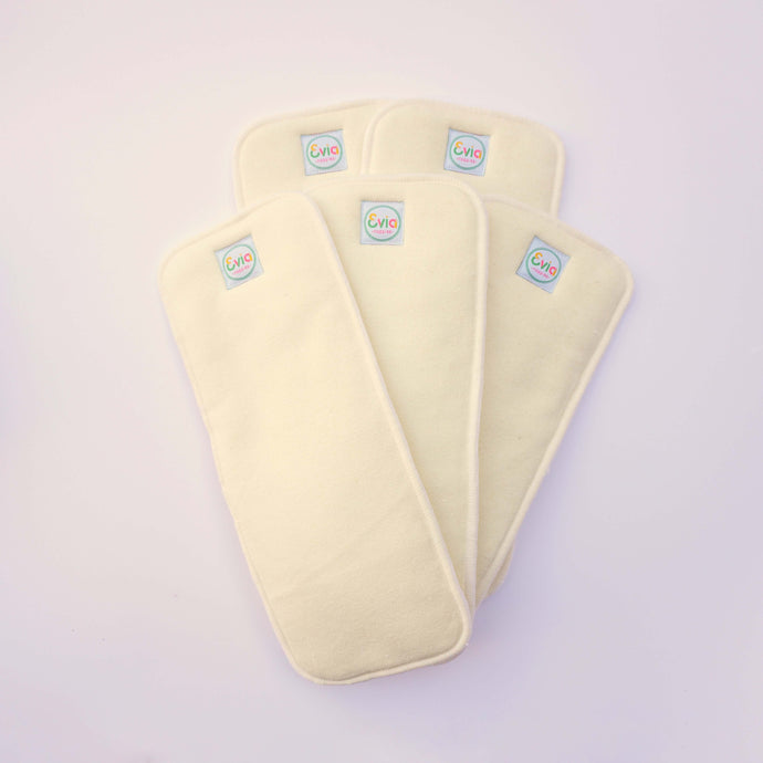 Reusable Hemp Nappy Inserts (Pack of 5)