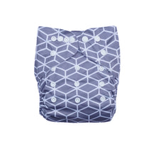 Load image into Gallery viewer, Evia Nappies Modern Cloth Nappy I Reusable Nappy I Geometric Grey