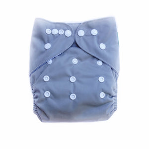 Evia Nappies Modern Cloth Nappy I Reusable Nappy I Single shade of grey