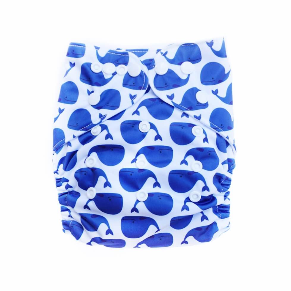 Evia Nappies Modern Cloth Nappy I Reusable Nappy I Whale of a time