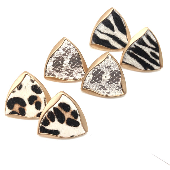Cowhide and Snake Studs