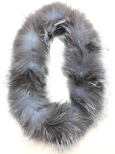 Fox Fur Scarf - Grey
