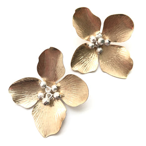 Jane Flower Studs - Gold
