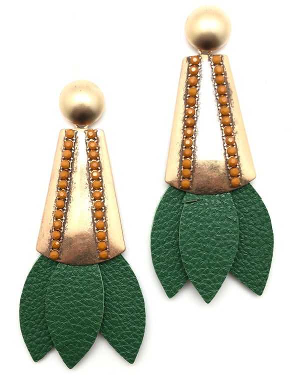 Tinsley Leather Earrings Forrest