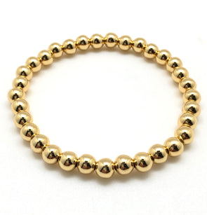 6mm Gold Filled  Bead Bracelet