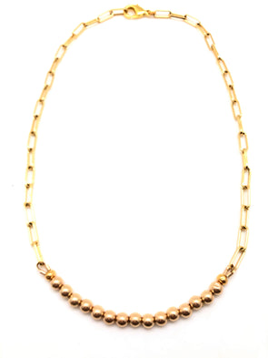 Gold Filled Ball Layering Necklace