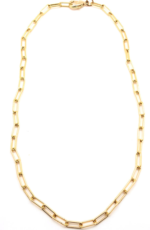 Gold Filled Paperclip Layering Necklace