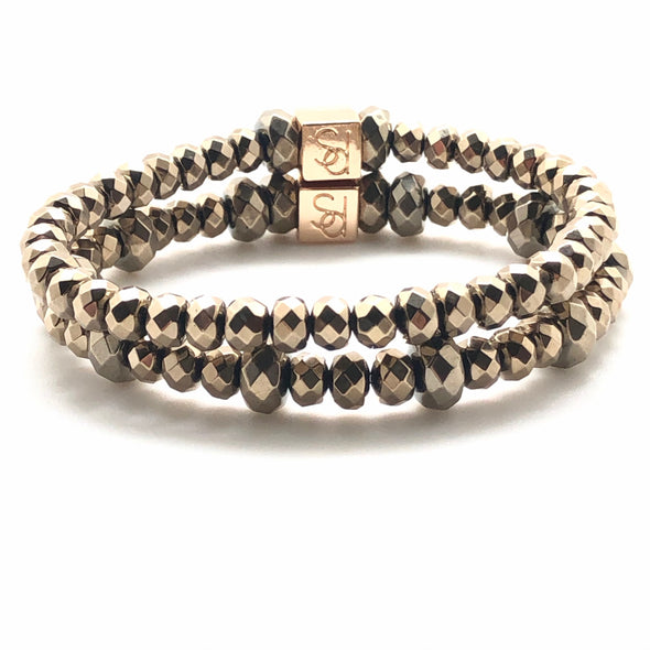 Pyrite Stacking Bracelets