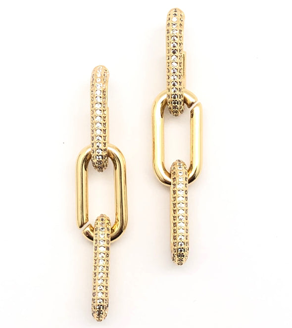 Gold Filled Chain Link Earrings