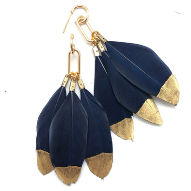 Gold Filled Feather Earrings - 4 color choices