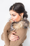 Fox Fur Scarf - Brown