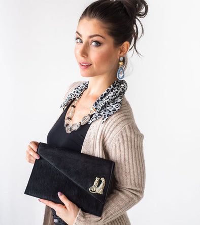 Black Hide Clutch