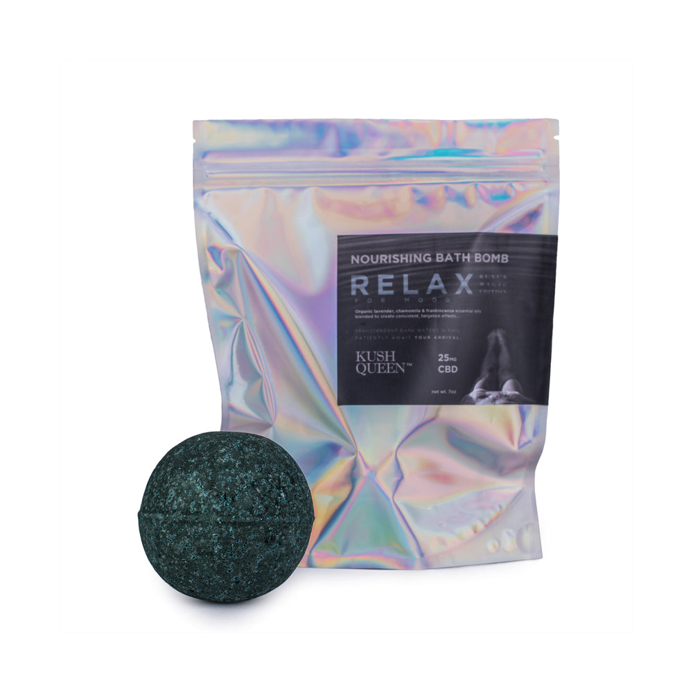 Black Magic CBD Bath Bomb – 25mg  *Limited Edition*