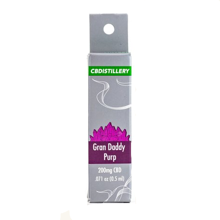 CBD Vape Cartridge - Grand Daddy Purp - 200mg