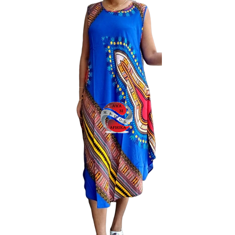 Dashiki Style Umbrella Dress